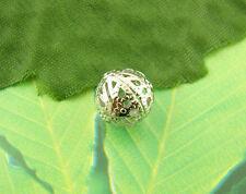 100 Perles intercalaires Filigrane boule 10mm Dia.
