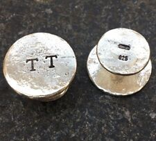 Made in London your initials Personalised Chunky Sterling Silver Cufflinks Hand