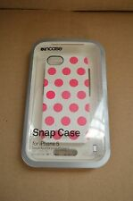 Incase iPhone 5 / 5S, and iPhone SE Snap Case White / Pink Dots CL69101