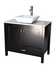"""36"""" Contemporary Style Single Sink Bathroom Vanity Model 2419-Es A"""