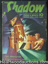 The Shadow  Mar 15, 1939  The Vindicator