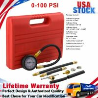 Fuel Injection Pump Injector Tester Test Pressure Gauge Gasoline Petrol Diesel