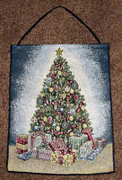 Gifts of the Season ~ Christmas Tree Tapestry Bannerette Wall Hanging w/Lights