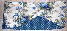 Waverly Classic - Blue & White Floral Draped Underlay Fabric Valance - EUC