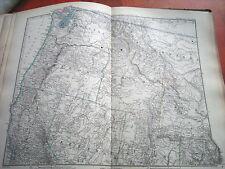 c32-1-83 Carte atlas Stieler Ouest des Etats Unis