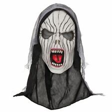 Halloween Ghost Shrieking Demon Nun Mask Rubber Latex Hooded Horror Scream Scary