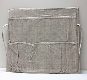 NEW Pottery Barn TEEN Chair Back Space Saver Storage Organizer~Linen