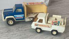 Vintage 1970'S Steel Buddy L And Tonka Pepsi Cola Trucks