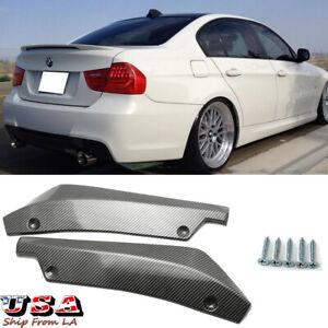 Carbon Fiber Sport Rear Bumper Lip Canards Spoiler For BMW 325i 330i 335i E90