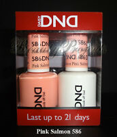 DND Daisy Soak Off Gel Polish Pink Salmon 586 full size 15ml LED/UV gel duo NEW