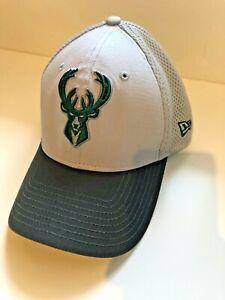 New Era Gray Neo Icon Milwaukee Bucks Flex Fit Cap Giannis Antetokounmpo