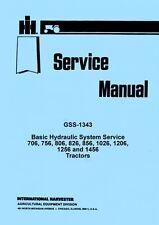 International Farmall 1256 1456 2706 2756 2806 2856 Hydraulic Service Manual Ih