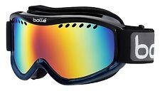 Bolle Carve Ski Snowboard Goggles Black Blue Fade Frame Sunrise Lens 21107