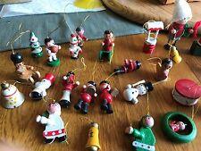 Vintage (?) 29 Miniature Christmas Tree Figurine Ornaments