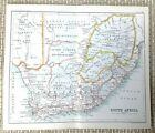 1890 Antique Map of South Africa Cape Colony Bechuanaland Orange Free State