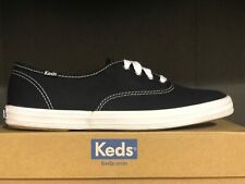 Keds Womens Low Top Champion Fashion Canvas Lace Up Black Sneakers Shoes NIB