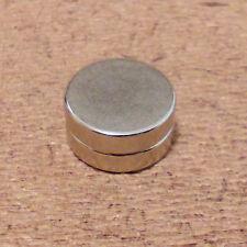 2 N52 Neodymium Cylindrical (1/2 x 1/4) inch Cylinder/Disc Magnets.