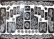 1 XXL Henna Schablonen Vorlage  Airbrush Tattoo Stencils Hand fuss Body Arm T108
