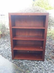 Solid wood MANGO bookcase shelving unit VERY HEAVY NO postage