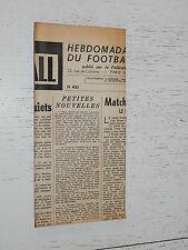 FRANCE FOOTBALL OFFICIEL HEBDOMADAIRE FFF N°400 17/11 1953