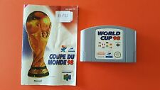 COUPE DU MONDE 98 / jeu + notice Nintendo 64 / PAL EUR UKV FRA / WORLD CUP 98