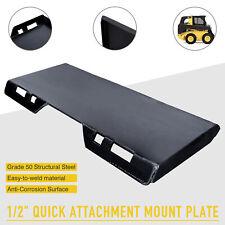 "Steel Quick Tach Attachment Mount Plate for Kubota Bobcat Skid Steer Hd 1/2"""