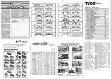 "24 Page 5x8"" B/W HO RC RACEWAY Vintage Slot Car AFX TYCO Catalog Cool Reference!"