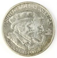 Raw 1924 Huguenot 50C Uncertified Ungraded US Silver Half Dollar Commem Coin