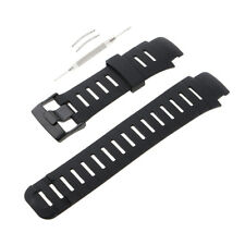 Black Rubber Silicon Watch Band Strap For SUUNTO X-LANDER with Tool Kit