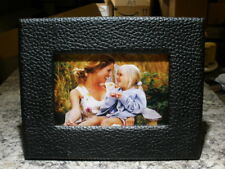 "PICTRONIC BACK LIGHT ILLUMINATED 4""X 6"" PICTURE/PHOTO FRAME BLACK FAUX LEATHER"