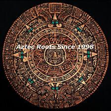 Aztec Sol Calendar Mayan Maya Wall Plaque Mexico Xiuhpohualli Ancient Aliens Art