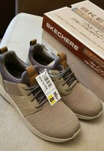 MENS SKECHERS  CLASSIC FIT SHOES WITH  AIR COOLED MEMORY FOAM  UK 7 TAUPE.BNIB