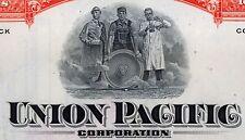 Union Pacific Railroad Corporation 3 Color Stock Certificate Set