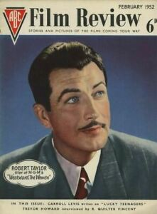 Film Review Magazine Robert Taylor Cover Photo Gregory Peck Gene Kelly Feb 1952