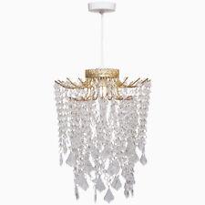 Modern Indoor Hastings Gold Metal Beaded Chandelier Easy Fit Ceiling Shade