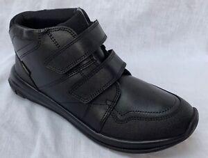 BNIB Clarks Boys Hula Spin GTX Black Leather Gore-Tex School Boots