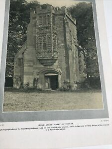 Dorsetshire 1924: Cerne Abbas Abbey Gatehouse Benedictine The Choir Sherborne