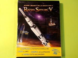 RAZZO SATURN V LIBRO + MODELLO 3D NATIONAL GEOGRAPHIC KIDS