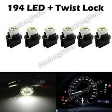 6 White PC194 T10 for Chevy Instrument Panel Cluster Led Light Bulb Dashboard