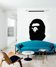BAPE APE - LARGE WALL DECAL STICKER + FREE DECAL - VINYL BATHING APE DESIGN -