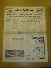 MELODY MAKER 1937 MAY 1 SYDNEY KYTE RUDY VALLEE AMBROSE BIG BAND SWING