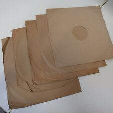 "5x vintage 12"" brown paper 78rpm gramophone record sleeves"
