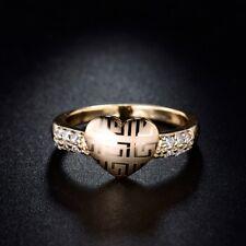 Vintage gold plated cubic zirconia wedding cz bridal sets charming rings Sz6-9