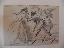 Vellani Marchi litografia originale 1925 commedia dell'arte Modena