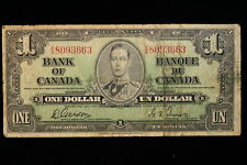 1937 Canada. ($1) One Dollar. Series X/A. Gordon-Towers.