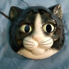 Vandor Cat Wall Mask Hand Painted Porcelain Japan 1983
