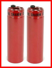 "2 x SHADOW CONSPIRACY LITTLE ONES BMX PEGS 4.3"" FIT CULT KINK HARO SUBROSA RED"