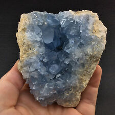 Celestite Crystal Specimen -160622-17.3 oz. Stone of Peace of Mind Healing Decor