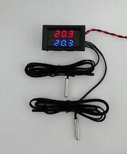 Dual Sensor Digital display Temperature 2 Input 12V Car Pc Campervan Aquarium
