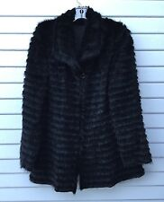 MAXIMILIAN For BLOOMINGDALES Black MINK RABBIT Reversible Jacket Sz M/L